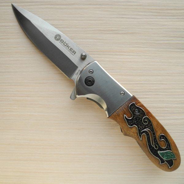 складной нож с малахитом