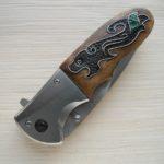 нож инкрустированный малахитом