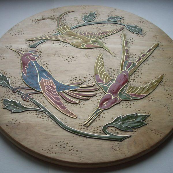 панно колибри вид сбоку