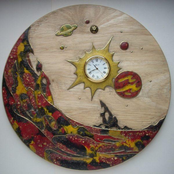 панно-часы космос