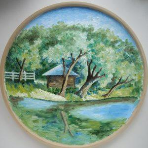 декоративная тарелка ясная поляна