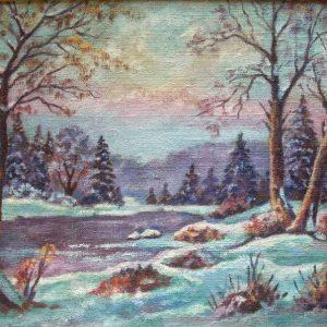 картина лес зимой