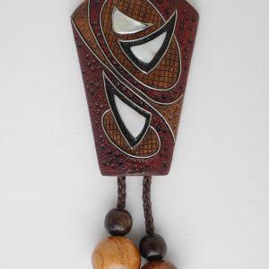 галстук боло из грецкого ореха с перламутром