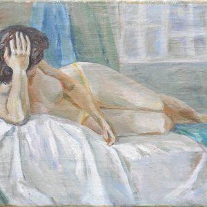 картина женщина ню