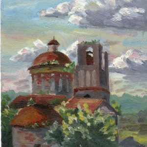 картина пейзаж старый город