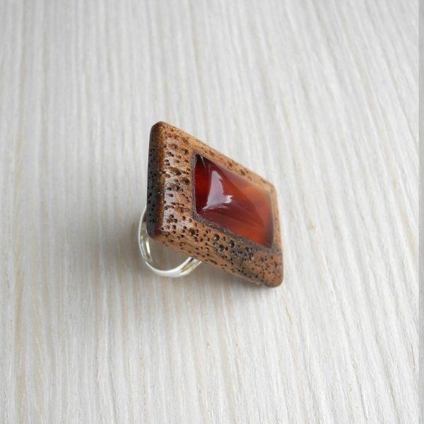 кольцо безразмерное с сердоликом