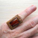 кольцо безразмерное с сердоликом ракурс 1