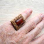 кольцо безразмерное с сердоликом ракурс 2